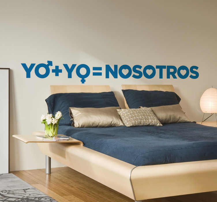 TenVinilo. Vinilo cabecero cama nosotros. Vinilos para dormitorios con un diseño moderno y original ideal para colocar sobre el cabecero de tu cama.