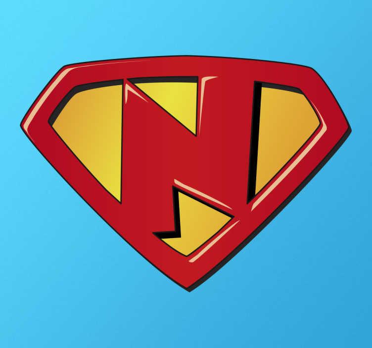 Sticker kind super N