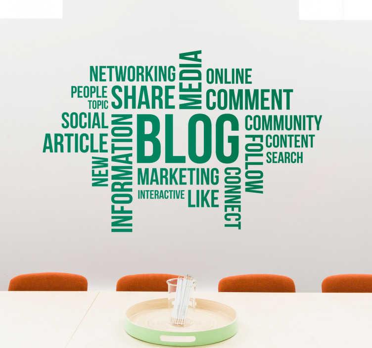 Muursticker concept blog