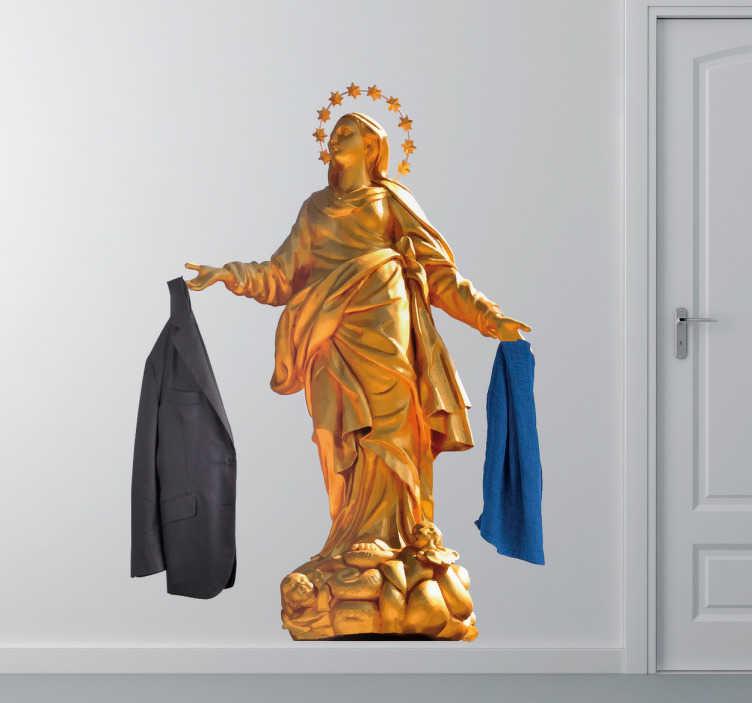 TenStickers. Appendiabiti adesivo Madonnina. Appendiabiti adesivo che vi farà innamorare. In una casa milanese non può mancare certamente mancare una decorazione relativa alla madonnina.