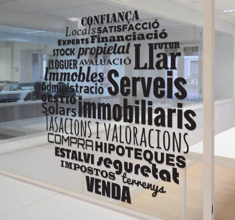 Vinilo para inmobiliaria catalán
