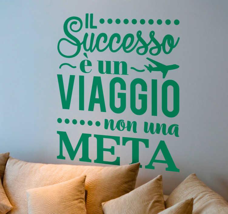 Super Adesivo frase motivazionale successo - TenStickers JY84