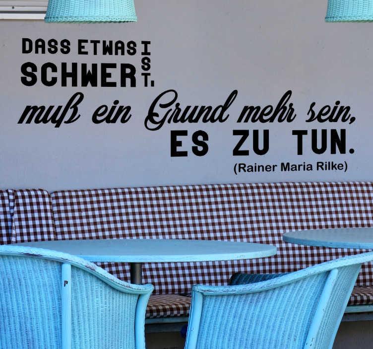 Wandtattoo Zitat Rainer Maria Rilke