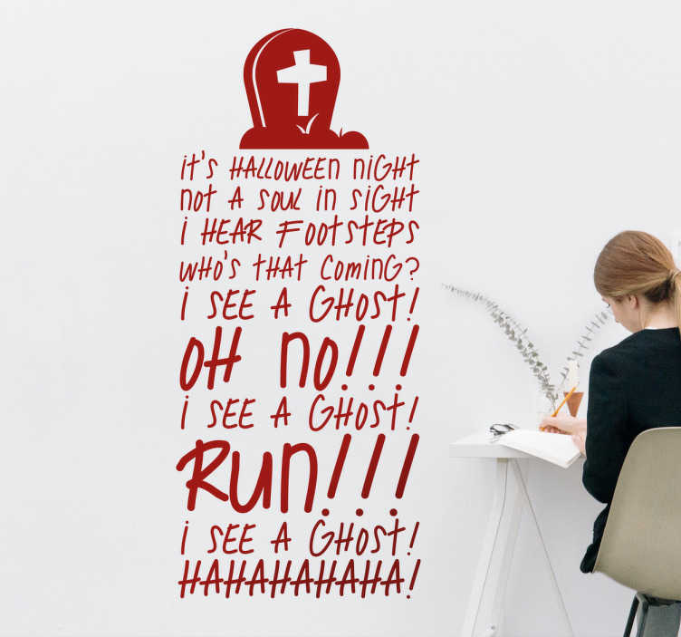 Halloween song wall sticker