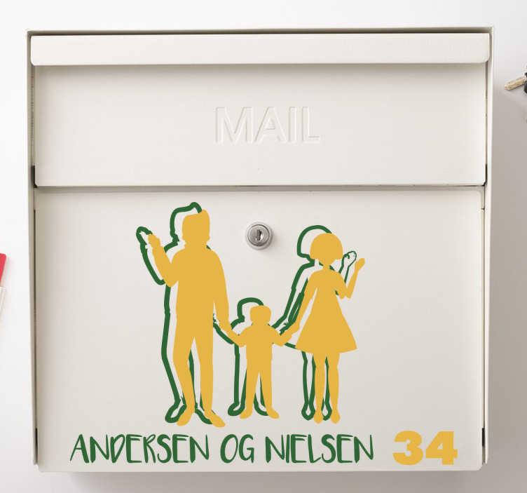 TenStickers. Silhuet postkasse sticker. Silhuet postkasse sticker. Denne dekorative sticker vil uden tvivl give dig og din familie vejens flotteste postkasse.