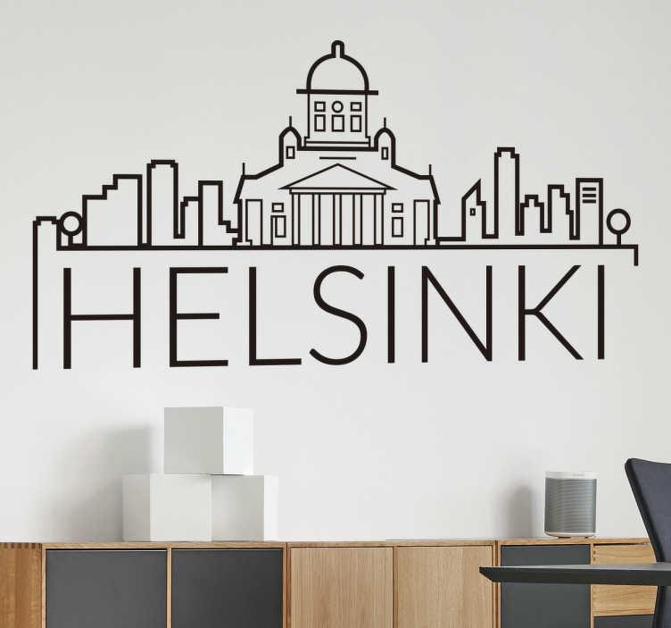 TENSTICKERS. モガディシュタワーのスカイラインシルエットウォールステッカー. ヘルシンキシティスカイラインウォールステッカーさまざまな色とサイズのオプションが用意されています。