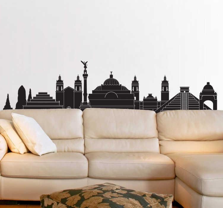 TenVinilo. Vinilo decorativo edificios México. Vinilos México con el perfil de algunos de los monumentos más emblemáticos del país.