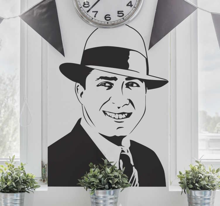 Vinilo decorativo retrato Carlos Gardel