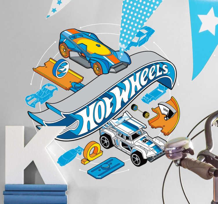 Adesivo infantil Hot Wheels