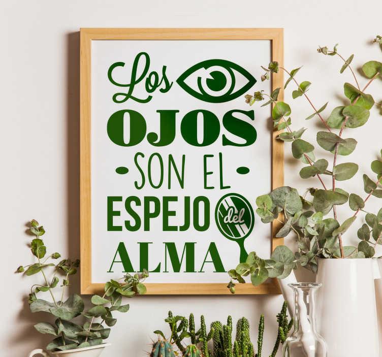 Vinilo decorativo ojos espejo del alma