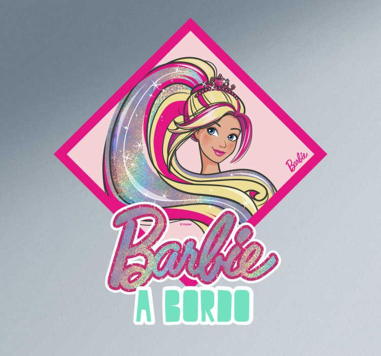Autocolante para carro Barbie a bordo