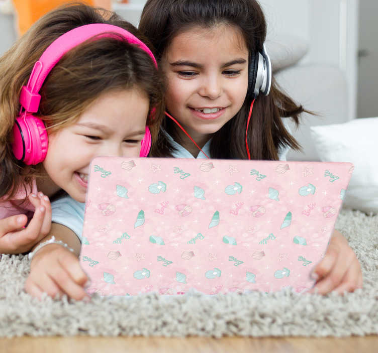 Adesivo infantil Barbie Sereia para Tablet