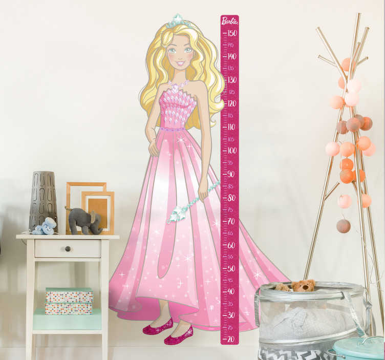 Vinil quarto infantil medidor Barbie