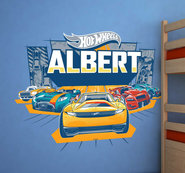 Vinilo coches de Hot Wheels personalizado