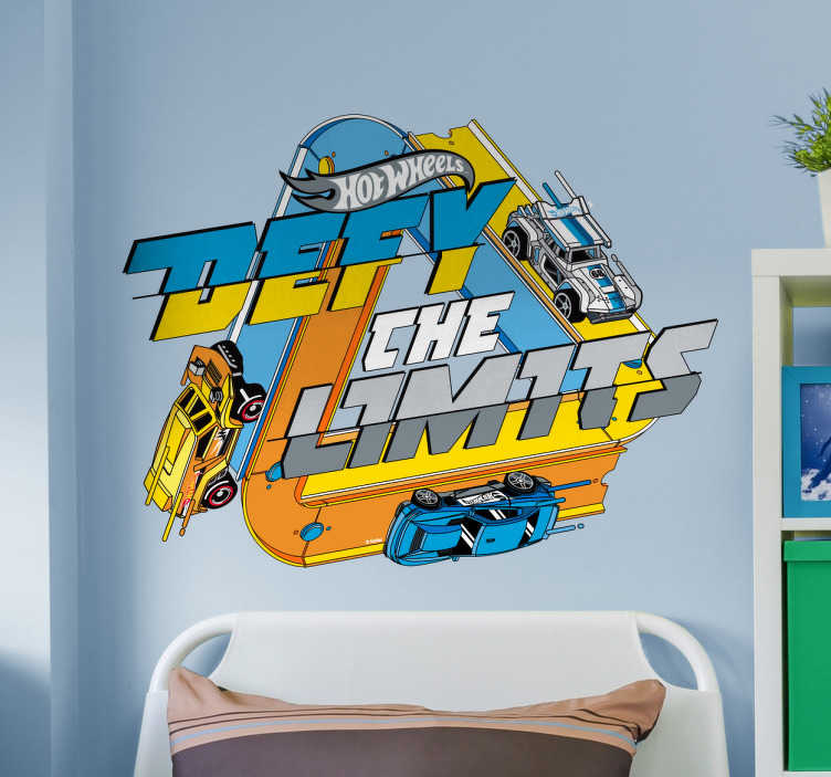 "Vinil Hot Wheels ""Defy the limits"""