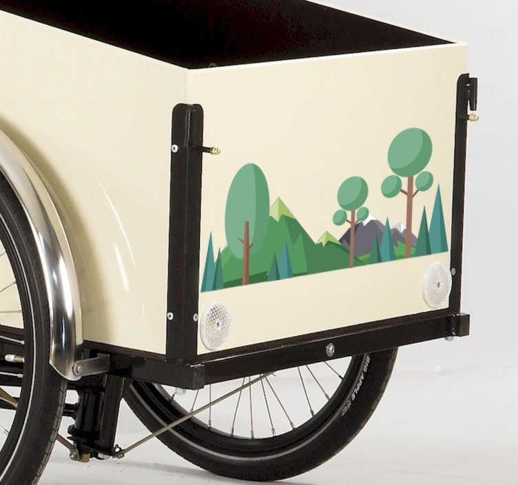 TenStickers. Christania cykel sticker. Christania cykel sticker med motiv af skov. Sjov og naturlig måde at dekorere denne ikoniske cykel, passer perfekt til originale mål.
