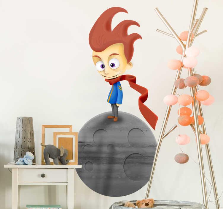TenStickers. Moderner Der kleine Prinz Aufkleber. Der kleine Prinz als Wandtattoo. Verleihen Sie dem Kinderzimmer eine märchenhafte Note!