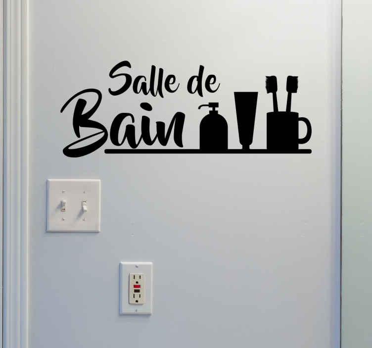 TenStickers. Sticker salle de bain. Décorez l'intérieur de votre salle de bain ou sa porte avec ce sticker. Il annonce en toute simplicité la pièce dans laquelle vous vous trouvez.