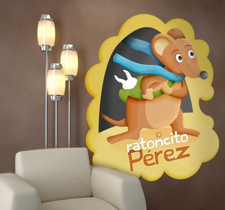 Vinilo infantil ratoncito Pérez texto