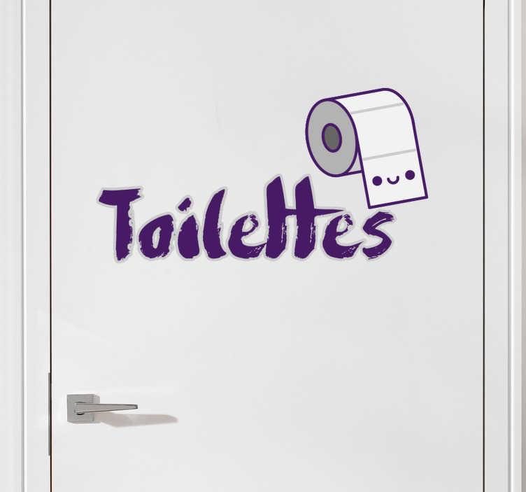 TenStickers. Sticker toilette. Découvrez notre sticker pour les toilettes! Décorez votre mur ou votre porte avec cet autocollant original.