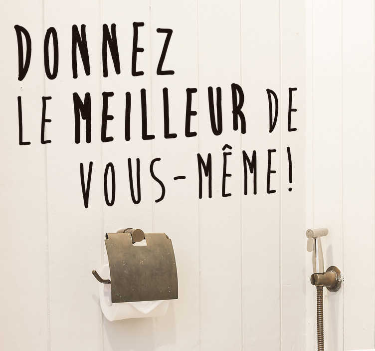Sticker Toilettes Texte