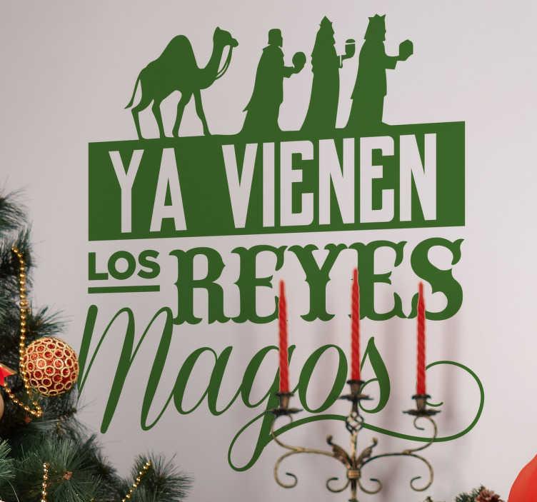 TenVinilo. Vinilo ya vienen los Reyes Magos. Vinilos Navidad originales basados en la letra de un famoso villancico que anuncia la llegada de Melchor, Gaspar y Baltasar a lomo de sus camellos.