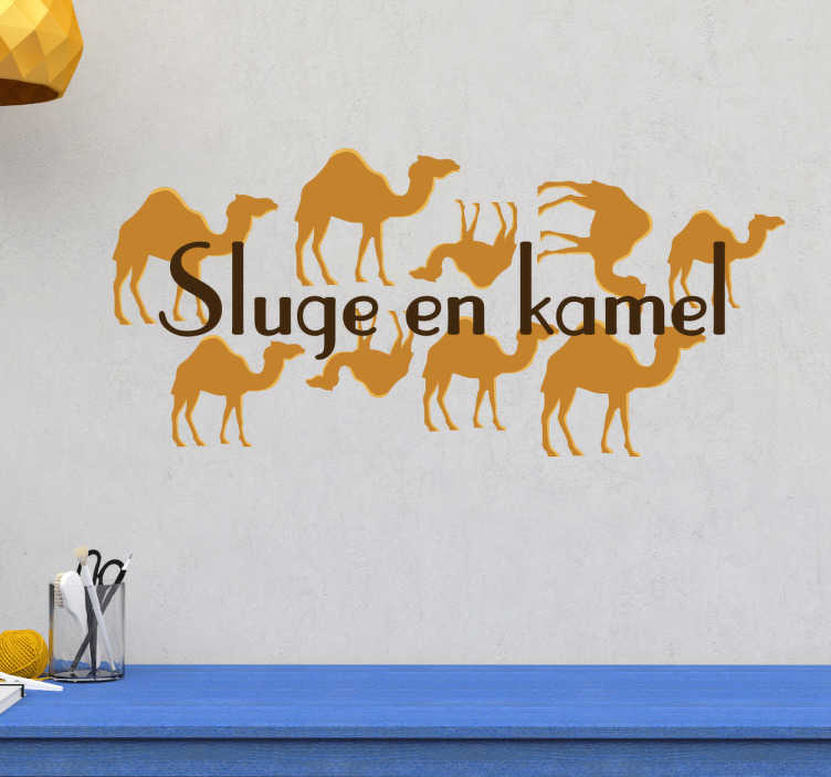 at sluge en kamel ordsprog