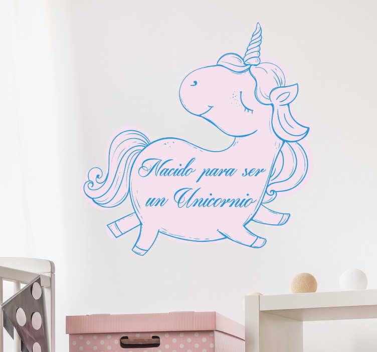 Vinilo infantil nacido para ser unicornio