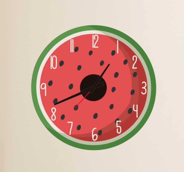 Sticker horloge pastèque