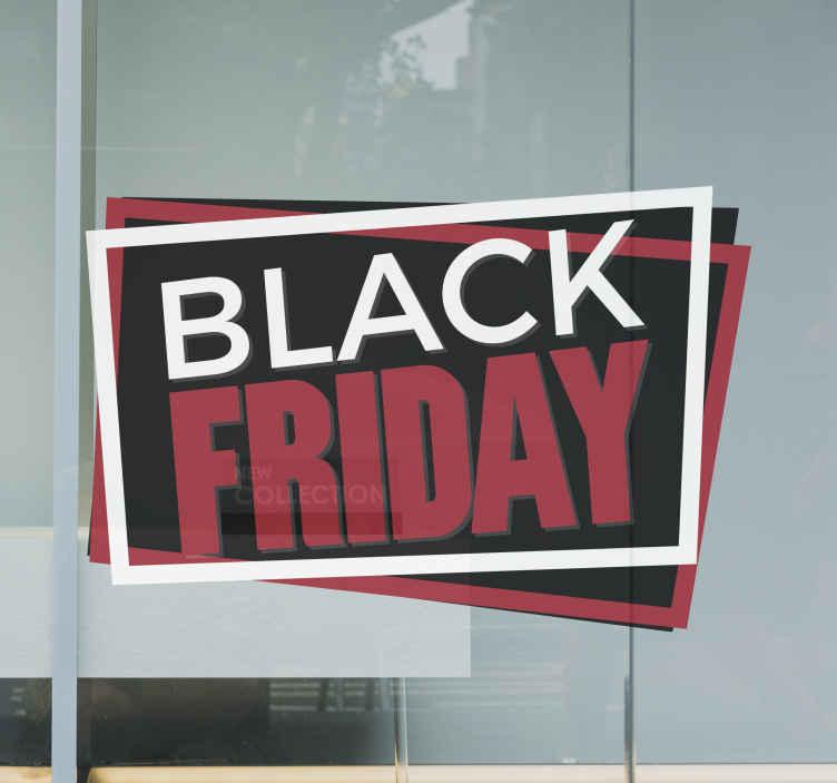 TenStickers. Raamsticker etalage Black Friday. Doet u met uw winkel ook mee met Black Friday. Laat dit dan ook duidelijk zien aan uw klanten met deze fraaie raamsticker voor de etalage.