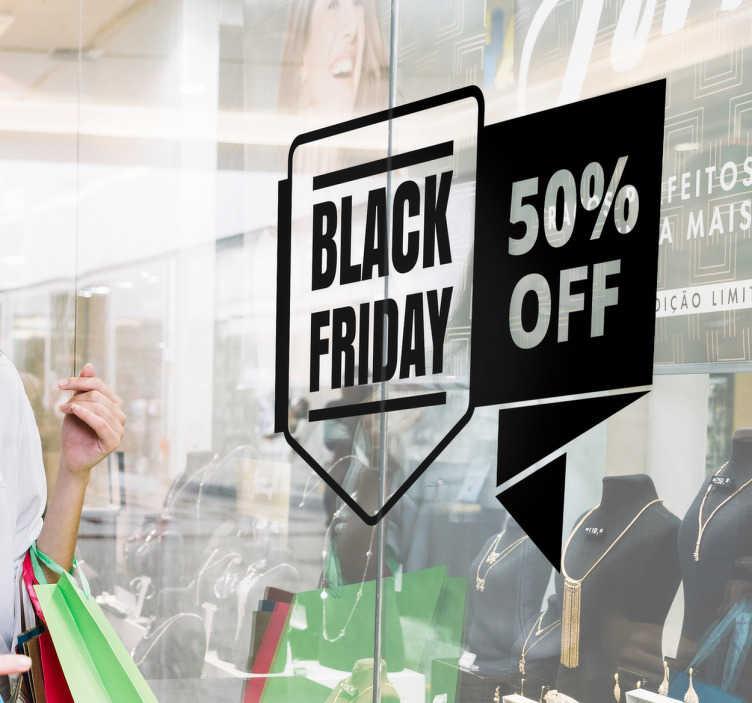 Raamsticker korting Black Friday