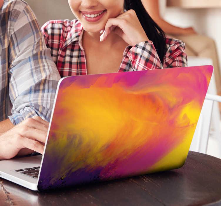 Laptopaufkleber Farbfleck