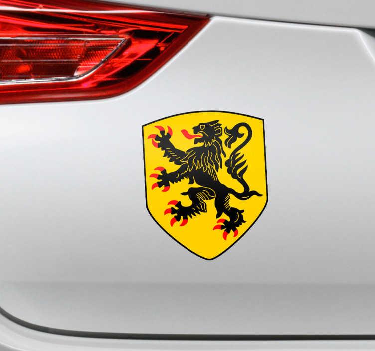 TenStickers. Auto sticker Vlaamse Leeuw. Een fraaie autosticker met daarop de Vlaamse leeuw, om uw trots voor Vlaanderen te tonen. Autobestickering van hoge kwaliteit en watervast.