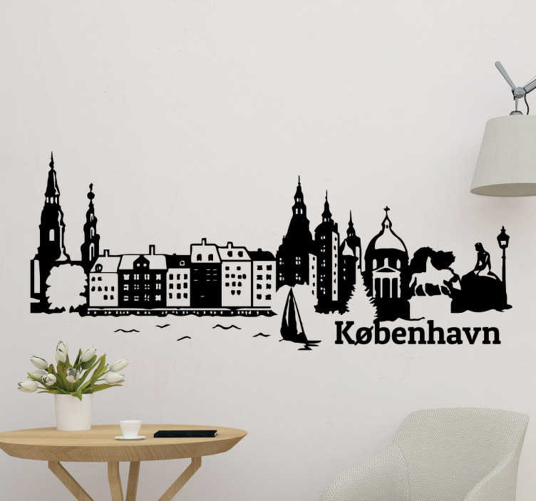Smuk skyline København sticker
