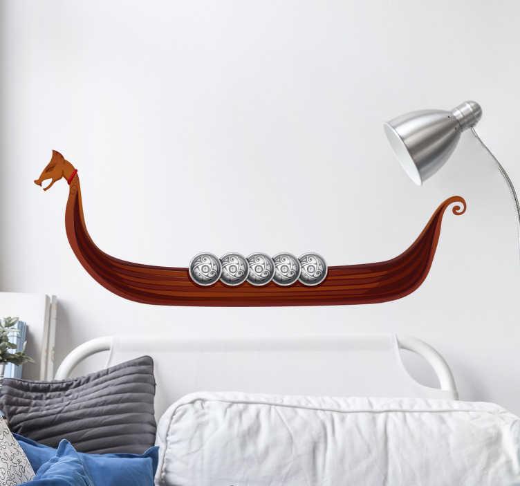 Muursticker vikingboot
