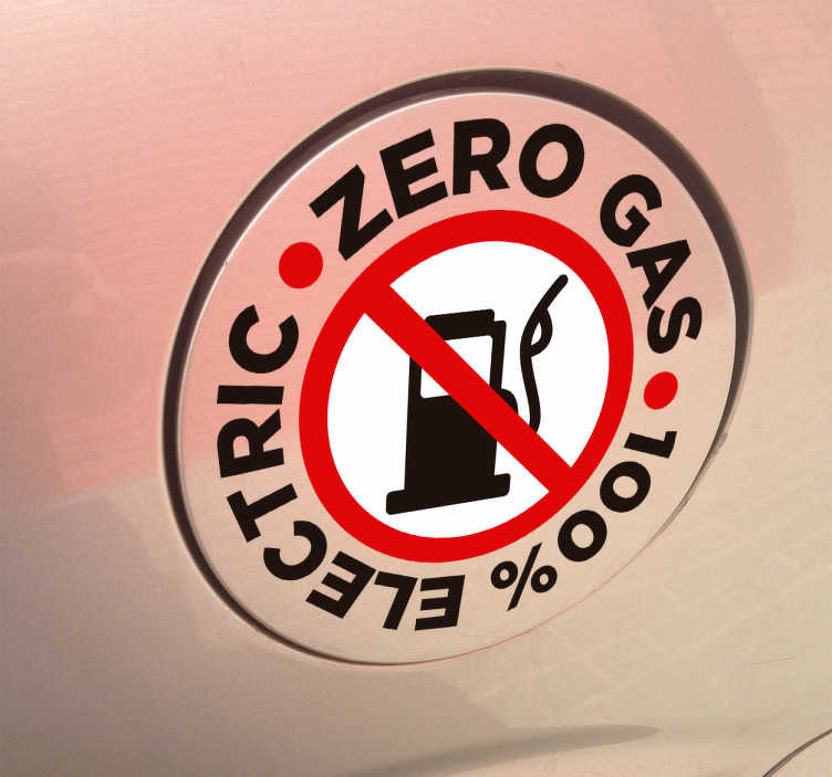Autoaufkleber Zero Gas