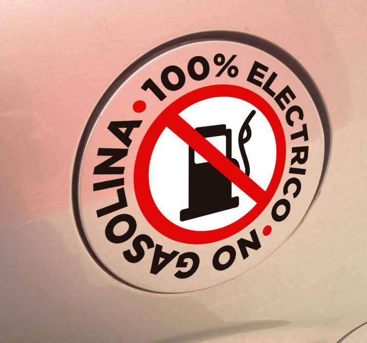 TenVinilo. Adhesivo coche ecológico. Pegatinas para coches eléctricos en los que remarcarás que tu vehículo no usa combustible fósil contaminante.