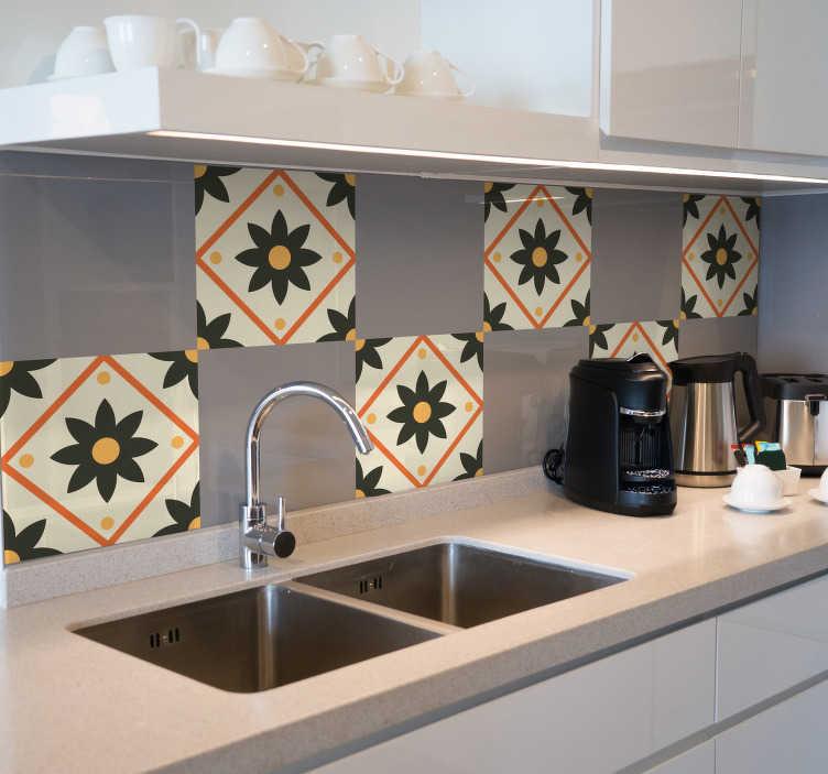 TenStickers. Tegelsticker Belgisch. Klassieke Belgische tegelstickers voor aan de muur. Wanddecoratie waarmee u het klassieke gevoel en de geschiedenis van België in huis haalt.