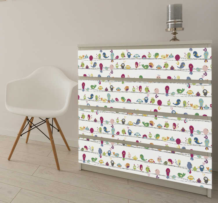 Sticker meuble animaux tenstickers - Stickers ikea meuble ...