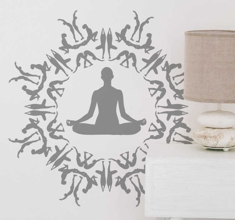 Vinilos yoga círculo figuras