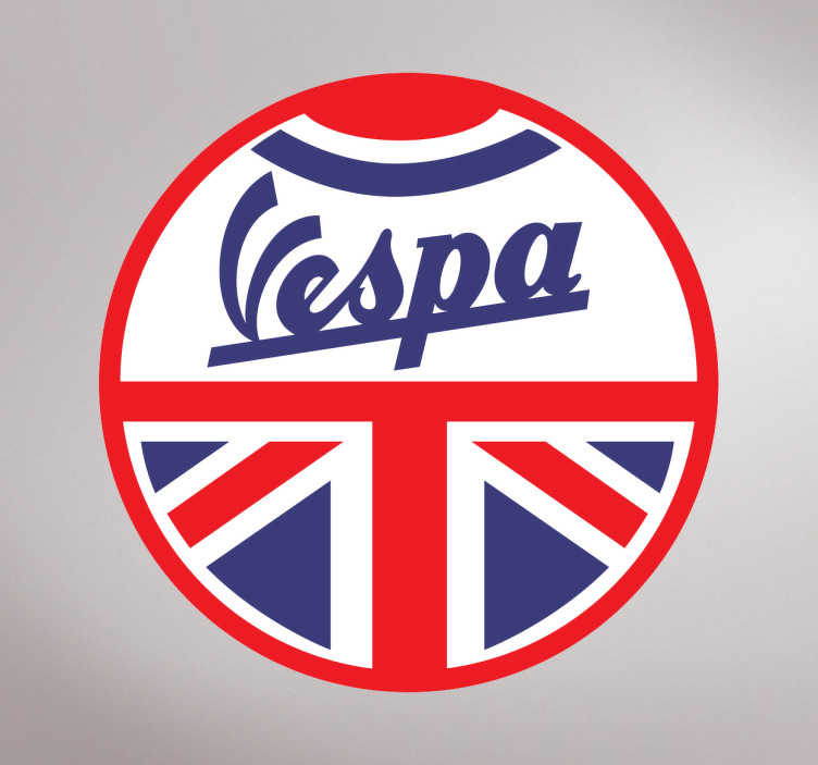 Adhesivo Vespa Gran Bretaña
