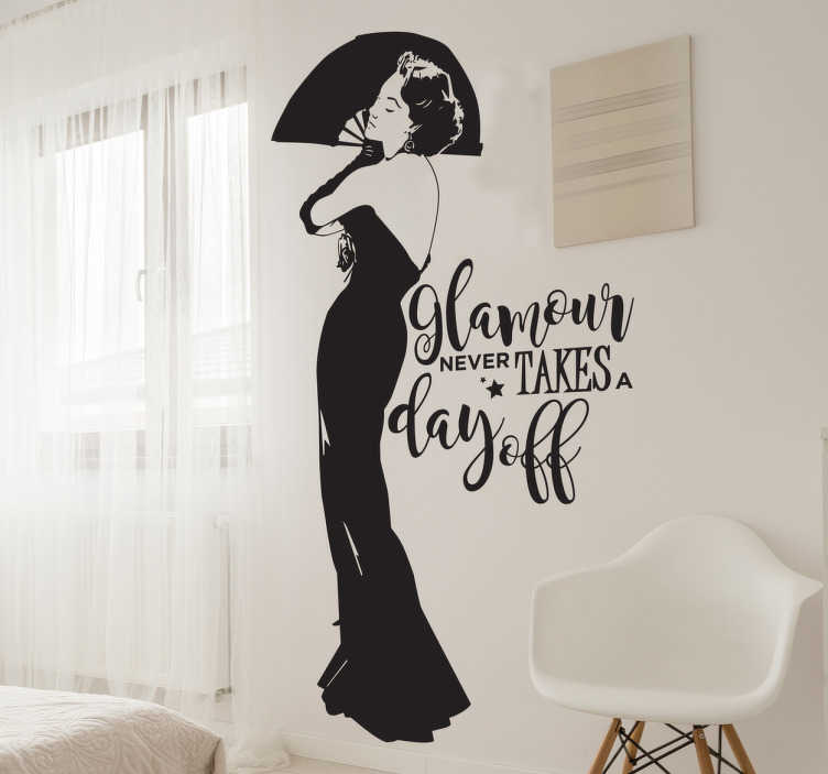 Sticker décoratif glamour