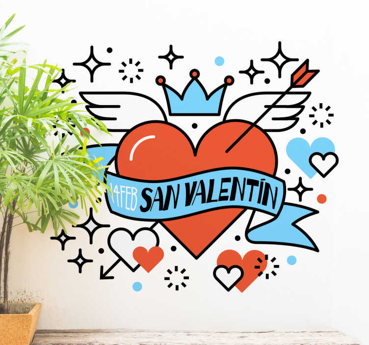 TenVinilo. Vinilos para San Valentín. Decoración para San Valentín, vinilo para tiendas que deseen promocionar el próximo día de los enamorados.