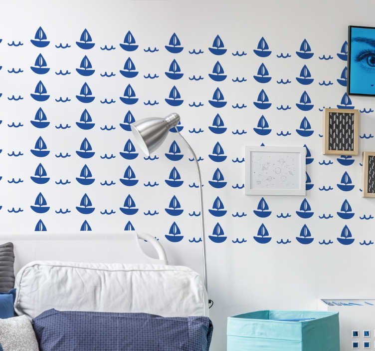 TenStickers. Little Boat Sticker. A creative sticker of a little boat sailing away. Decorate any room at home with this marvellous decal for your walls.