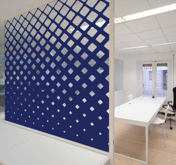 TenVinilo. Vinilo ventana cuadrados. Vinilos para cristales con un moderno diseño geométrico degradado, ideal tanto para tu casa como especialmente para despachos y oficinas.