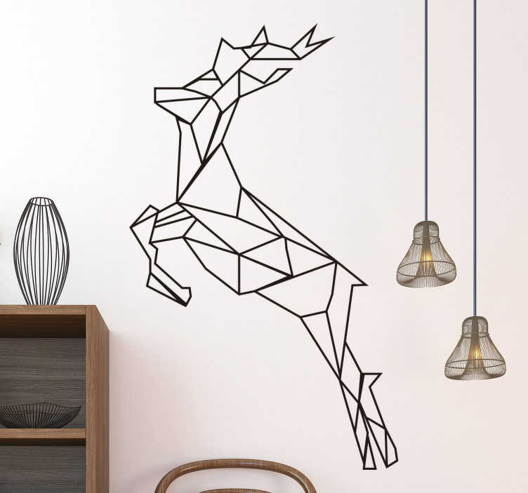 wandtattoo geometrischer hirsch tenstickers. Black Bedroom Furniture Sets. Home Design Ideas
