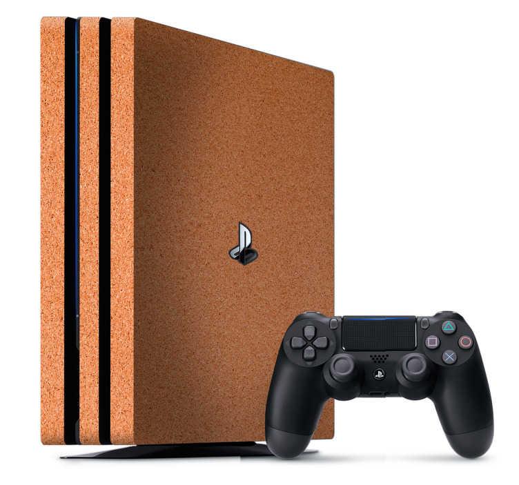 TenVinilo. Vinilo simulación corcho PlayStation 4. Personaliza tu PS4 con una textura impresa de corcho, la encontrarás disponible en distintos dispositivos, también para tus mandos.
