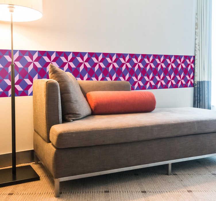 TenStickers. Frise adhésive géométrique. Autocollant mural adhésif représentant une frise avec des motifs géométriques.