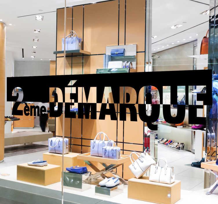Sticker vitrine 2e Démarque