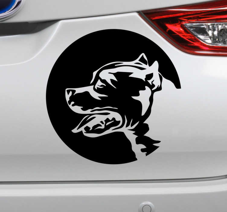 TenStickers. Autoaufkleber American Staffordshire Terrier. Cooler Autoaufkleber für alle Besitzer eines American Staffoordshire Terrier. Zeigen Sie allen wie lieb Sie Ihren Hund haben.